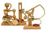 2 x joc de inteligenta din lemn