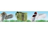 1 x pereche de balerini albi (0-6 luni), 1 x pereche pantofi sport albi (0-6 luni), 1 x geanta Teutonia