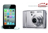 1 x pachet cu camera foto Benq C1450 + card 4GB, 1 x iPod Touch 8GB