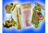 5 x set cu un Scooby-Doo din plus + o periuta de dinti Scooby-Doo + un penar + un berloc pentru fermoar
