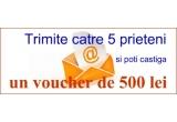 5 x voucher de 500 Ron (pe oalacubunatati.ro)
