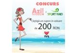 un voucher de 200 Ron pentru articolele TYR de pe sportraid.ro