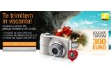 1 x voucher de turism de 300 de Euro, 1 x aparat Nikon Coolpix L23, 5 x rama foto digitala
