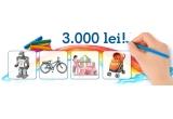 1 x set de jucarii la alegere in valoare de 3000 Ron, 3 x card de discount in valoare de 100 Ron pe emag.ro (categoria jucarii)