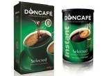 5 x 2 pachete de cafea Doncafe Selected de 250 g + 2 cutii de cafea instant Doncafe Selected de 100 g.