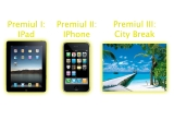 1 x iPad 2, 1 x iPhone 4, 1 x voucher vacanta pe