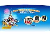 1 x excursie la Disneyland Paris, 520 x mouse cu Mickey, 330 x boxe de calculator, 150 x geanta pentru scoala