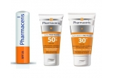 "8 x pachet Pharmaceris (o crema de corp ""Sun Body Protect SPF 30"", o crema de fata ""Sun Protect SPF 50"" si un balsam de buze SPF 25)"
