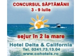 1 x weekend in 2 la Hotel Delta & Califorinia din Jupiter