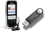 Telefon Nokia 2630, flash drive 16 GB, flash drive 8GB<br />