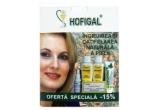 7 x trusa Hofigal (un deodorant natural Hofigal + un gel Supliform + un lapte demachiant Hof.Viodana + o crema antirid monodoze Hof.Viodana + un lapte pentru ingrijirea corpului Hof.Viodana)