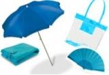 1 x set de accesorii de plaja (prosop + umbrela + evantai + geanta de plaja)