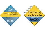1 x tunning  auto in  valoare de 20.000 RON, 3 x voucher in valoare de 1000 RON (curatare profesionala exterior/interior + polish)