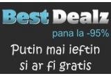 1 x de 10 ori valoarea cumparaturilor efectuate pe BestDealz in perioada concursului pana la 20.000 Euro dar nu mai putin de 1000 Euro, 5 x 6 luni discount 20% la toate ofertele BestDealz