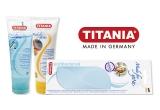 10 x set de produse TITANIA (crema pentru calcaie crapate + gel racoritor + piatra ponce antibacteriana)