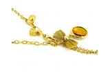 1 x colier placat cu aur galben 18k si cristale Swarovski