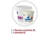 1 x revopsire de pereti interiori in limita a 100 mp aria utila, 7 x Savana colormix 9L + amorsa 5L