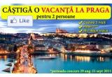 1 x vacanta la Praga pentru 2 la hotel de 3*, 1 x voucher de reducere de 10% pentru cumparaturi de pe vacantereduse.ro, 1 x voucher de reducere de 5% pentru cumparaturi de pe vacantereduse.ro,