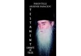 "1 x cartea ""Testament - Cuvinte de folos"" de Parintele Arsenie Papacioc"