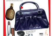 geanta din piele de la Dada, un parfum Diesel, un ruj Lancome, o pereche de casti Altec Lansing CHP