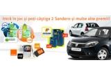 "2 x masina Dacia Sandero, 90 x cartela Free Sim Orange, 12 x telefon HTC Cha Cha, 2 x excursie in campania ""Descopera Romania-Petrom"", 360 x set produse Garnier, 100.000 x voucher 20% reducere de pe dacia-merchendising.ro, 180 x voucher carburant in benzinariile Petrom, 100 x voucher reducere in magazinele Orange"