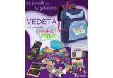 """1 x ghiozadanel plin cu minunatii pentru scoala sau gradinita (2 carti de colorat cu CD audio Editura Mac-Mac (""""Fat Frumos cel Adormit"""" si """"Oglinda Fermecata"""") + penar cu creioane si carioci colorate + penar in forma de soricel + set de acuarele si creioane non-toxice + set de creta colorata + set de plastilina + set de accesorii pentru lucru manual)"""