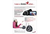 1 x Pen Mouse util atat pentru laptop cat si pentru desktop, 3 x webcam eface 2050 AF+ mouse Navigator 905 BT, 1 x set boxe SP U150X, 1 x dual camcorder G-Shot 585T, 1 x sistem audio SP-HF 500A