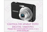 1 x aparat foto digital Samsung 12.2MP, 1 x rochie sexy la alegere de pe Fiora.ro, 1 x cupon de 20 RON ce poate fi folosit pe Fiora.ro