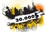 1 x 20.000$ pentru a-ti pune ideea in aplicare, 16 x sac urban, 16 x hanorac urban