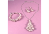 1 x set de bijuterii cu perle Swarovski