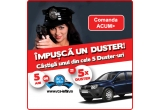 tichete cadou constand in echivalentul a 1000 de litri de combustibil, tichete cadou constand in echivalentul a 100 de litri de combustibil, 5 x autoturism Dacia Duster