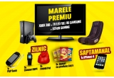 1 x set gaming (Xbox360 + TV Led Full HD Samsung + Scaun gaming), 6 x iPhone 4 16 GB, 45 x PSP Sony, 225 x ceas MP4, 180 x fotoliu puf, 225 x bax Lays sare