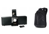 1 x rucsac Belkin, 1 x dock audio Logitech Pure-Fi Express Plus