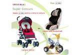 """1 x CHICCO - Carucior sport """"Multiway"""", 1 x KinderKraft - Scaun auto Smart Beige&Black, 1 x Coloma - Tricicleta Baby Sport"""