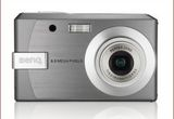 Un aparat foto digital BENQ E820 cu zoom optic 3x si 8 megapixeli<br />