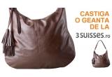 1 x geanta de la 3 Suisses + voucher de reducere de 10 RON, 1 x halat pufos de baie de la 3 Suisses + voucher de reducere de 10 RON (valabil pentru cumparaturi efectuate in magazinul online 3suisses.ro)
