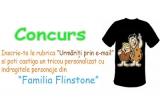 """1 x tricou cu indragitele personaje din """"Familia Flinstone"""""""
