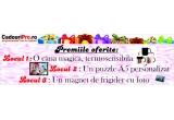 1 x cana magica, TERMOSENSIBILA imprimata cu poza si textul ales de tine, 1 x puzzle A5 magnetic personalizat cu poza si/sau textul castigatoarei, 1 x magnet de frigider personalizat cu poza si/sau textul ales de tine