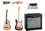"17 x chitara clasica FENDER, 1 x chitara electrica FENDER STRATOCASTER + amplificator FENDER MUSTANG 2 + PROCESOR DE VOCE ""VOCALIST LIVE 3"