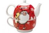 1 x set ceainic si cana de ceai decorate cu motive de Craciun