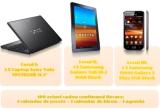 1 x smartphone Samsung Galaxy S, 1 x tableta Samsung Galaxy Tab, 1 x laptop Sony Vaio, 100 x seturi cadou (calendar de perete + calendar de birou + agenda)