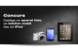 1 x aparat foto, 1 x telefon mobil, 1 x iPad