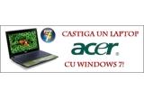 1 x un laptop ACER ultraportabil cu Windows 7