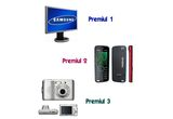 un monitor LCD Samsung 19″, un telefon mobil Nokia 5220 Music Express, un aparat foto Nikon Coolpix L16