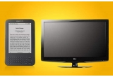 1 x TV LCD LG, 1 x e-book Kindle