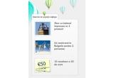 1 x excursie cu balonul cu aer cald pentru tine si 3 prieteni, 1 x week-end pentru 2 persoane in Bulgaria, 10 x voucher de reducere in valoare de 50 Euro