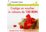 1 x voucher in valoare de 150 lei oferit de Cosmeticsstore