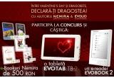1 x Tableta EvoTab 2 de la Evolio + un voucher de 300 RON, 1 x E-Reader EvoBook 2 de la Evolio și un voucher de 200 RON