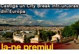 9 x city break la Istanbul SAU Atena SAU Barcelona SAU Munchen SAU Praga SAU Madrid SAU Paris SAU Londra SAU Amsterdam, 7 x voucher cu reducere de 10% pentru ofertele Happy Tour
