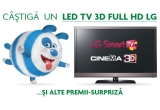 1 x televizor LED TV 3D FULL HD LG, 10 x memory stick 4 GB
